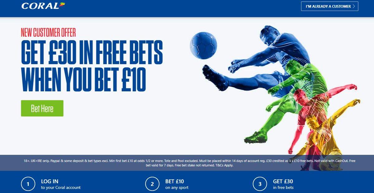 Betting with Coral  ▫️New Customer Sign Up Offer ▫️Bet just £10 & Get £30 In Free Bets  ▪️Offer Link below 🔸  begambleaware 18+ T&Cs Apply #FPL #CopaDelRey #EVELEI #MUNSHU #CHEWOL  #Championship #premierleague #PL #EFL #BURAVL,8
