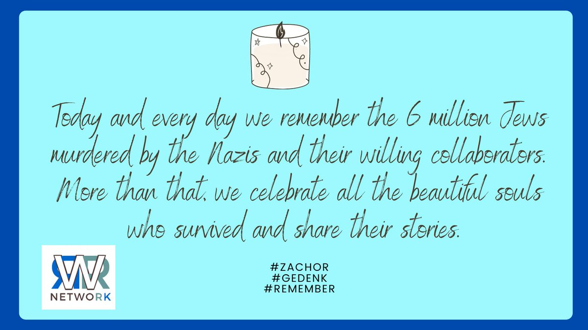 As the daughters and granddaughters of Holocaust survivors, on some level   #HolocaustRemembranceDay is every day for us.  Today especially, #WeRemember those lost and cherish those who survived. #Zachor #Gedenk #Remember
