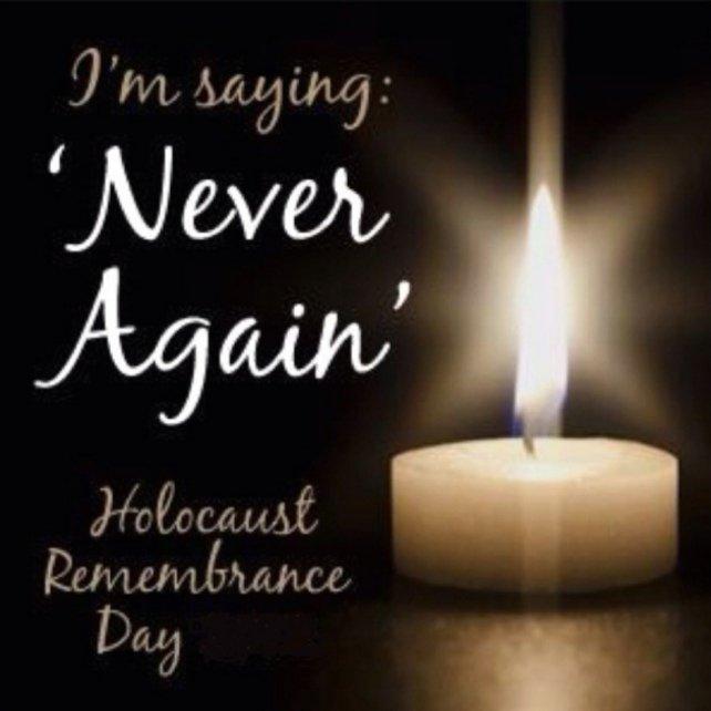 #NeverAgain #Neverforget #HolocaustMemorialDay