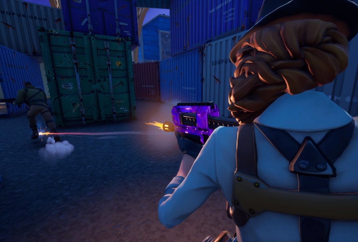"""""""As a detective, she also has to complete her job as a bounty hunter.""""  #Fortography #FortniteSeason5 #FortniteZeroPoint"""