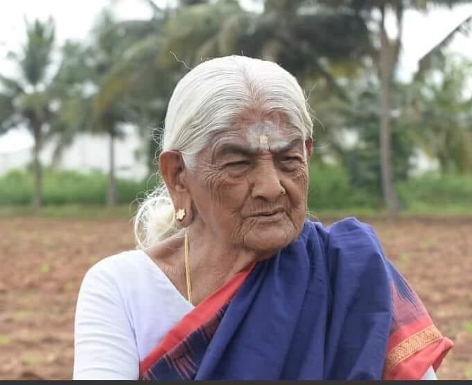 🙏🌿🌷 Padma Shri awarded to  105-year-old organic farming pioneer from Coimbatore, Pappammal 👏  She is active even today in her field in Thekkampatti, a village on banks of river Bhavani  She organically cultivate millets, pulses, and vegetables on her 2.5-acre field