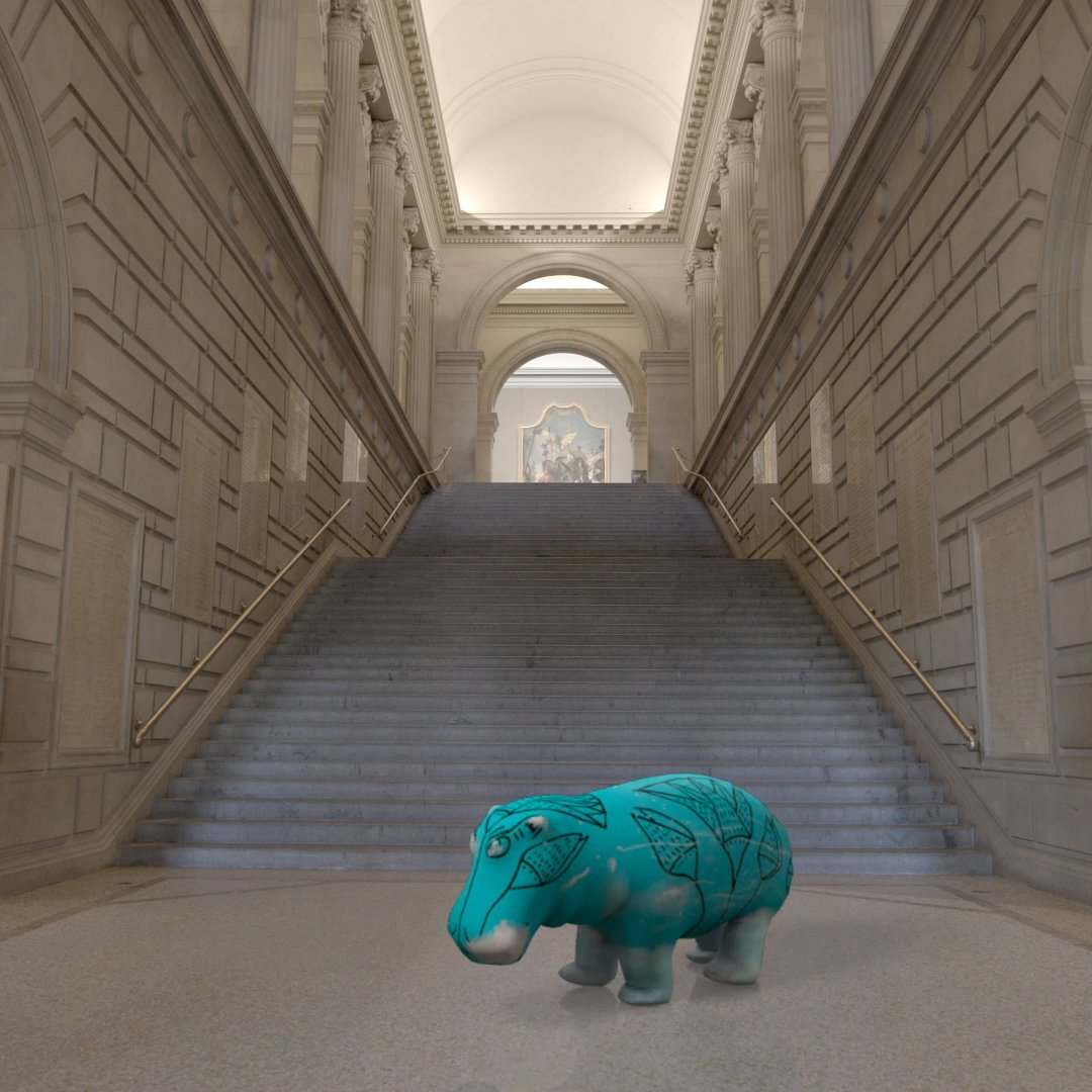 Due to popular demand, we're bringing back William the Hippo, our limited edition ARt piece within #TheMetUnframed. The next edition dropped today. Make sure to visit , snag your copy, and share  @metmuseum's beloved Egyptian hippo with your friends.