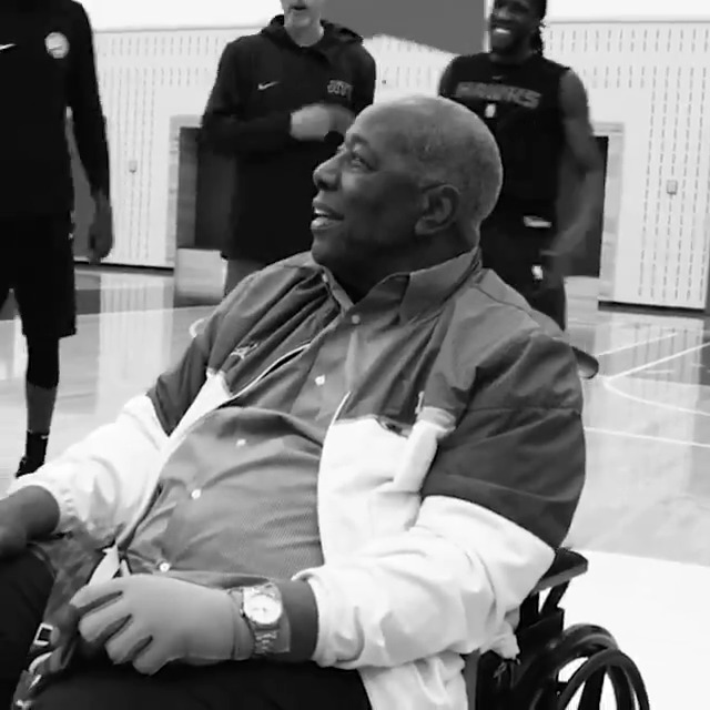 A Legendary Visit: Baseball Immortal Hank Aaron's Meeting with @TheTraeYoung and the @ATLHawks in 2019