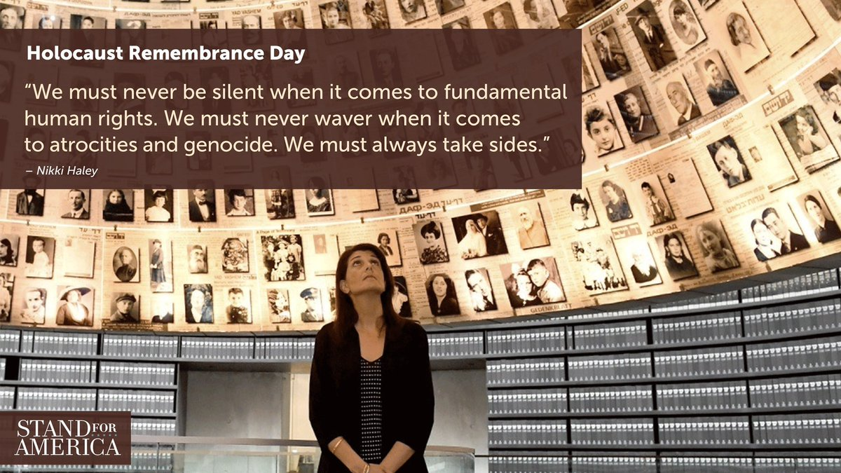 We must never be silent when it comes to fundamental human rights. We must never waver when it comes to atrocities and genocide. We must always take sides. #HolocaustRemembranceDay