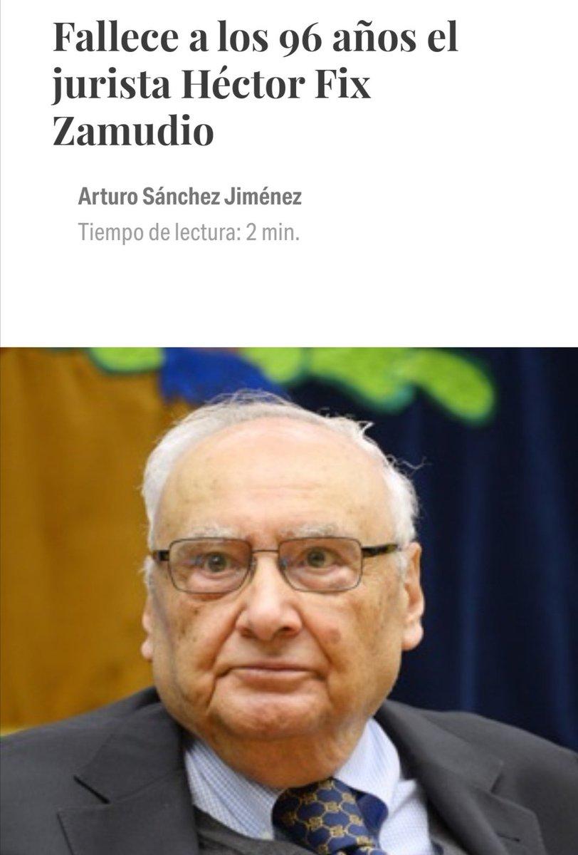Hoy el foro jurídico está de luto. Somos muchos los que, directa o indirectamente, nos consideramos discípulos del gran jurista mexicano don Héctor Fix-Zamudio #GraciasMaestro