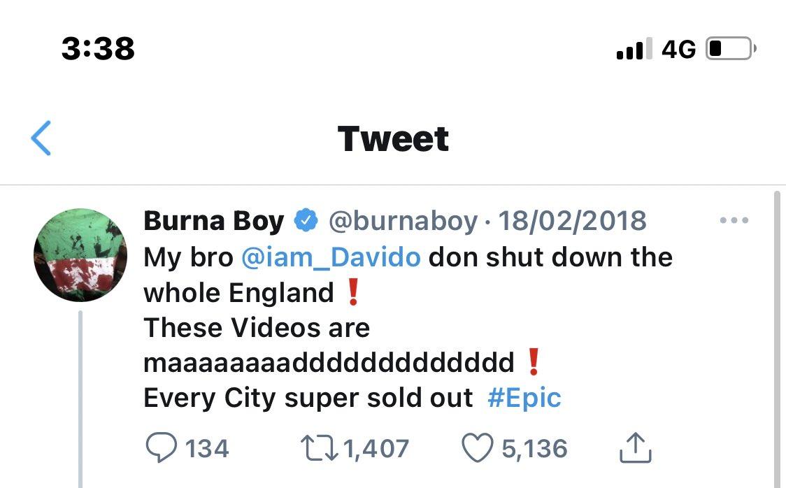 It was so Epic that even Burna Boy turned hype man. 😂😂 #30BG https://t.co/ZoaD3PRjya https://t.co/2y0rJ2XqSx