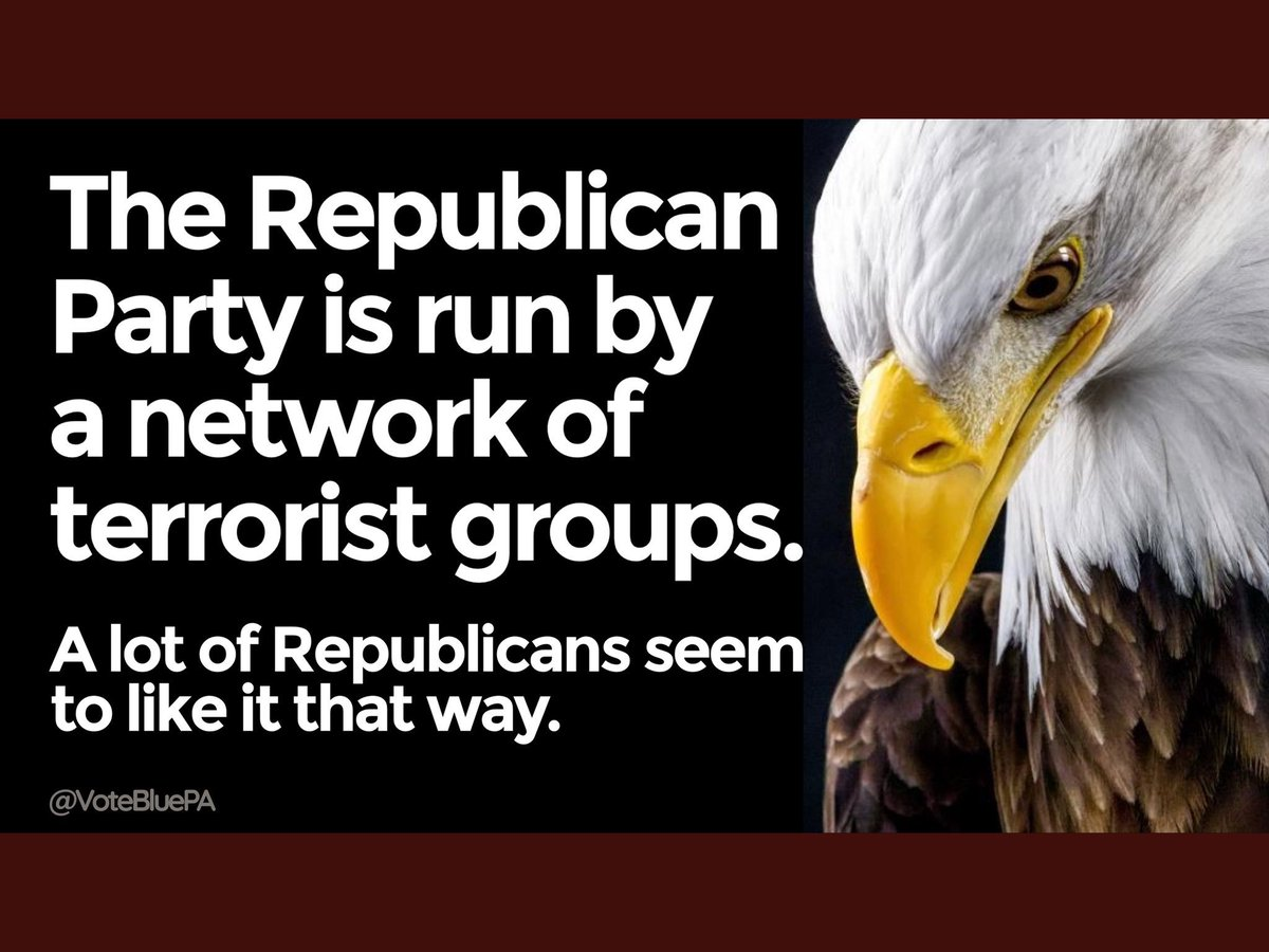 The Republican Party is no longer a legitimate American political party. They are simply a conglomeration of #TrumpTerrorists.