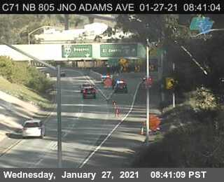 Image posted in Tweet made by Caltrans San Diego on January 27, 2021, 4:42 pm UTC