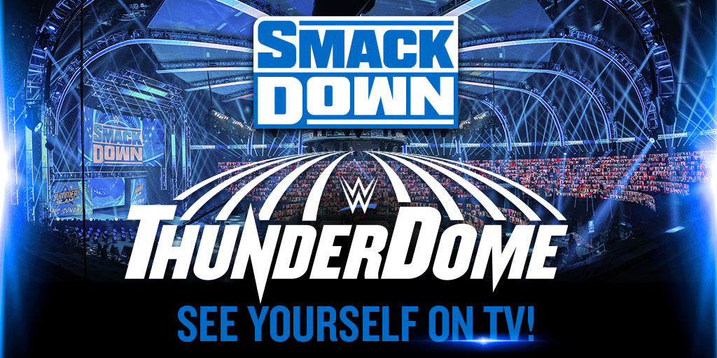 Join fans from around the world live on TV!  Register now for your virtual seat in the #WWEThunderDome on #SmackDown!
