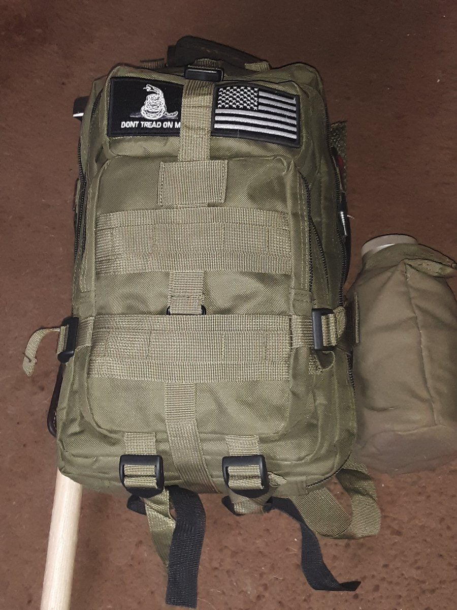 A 3-day camping bag should I keep the patches what y'all think https://t.co/EKoFTBW4bo