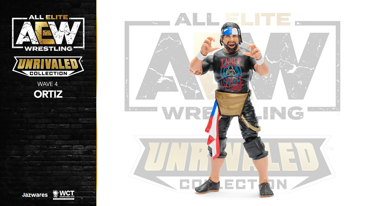 You knew @Ortiz_Powerful was coming too, right?  First ever @AEW Ortiz action figure! #AEW #AEWUnrivaled @Jazwares