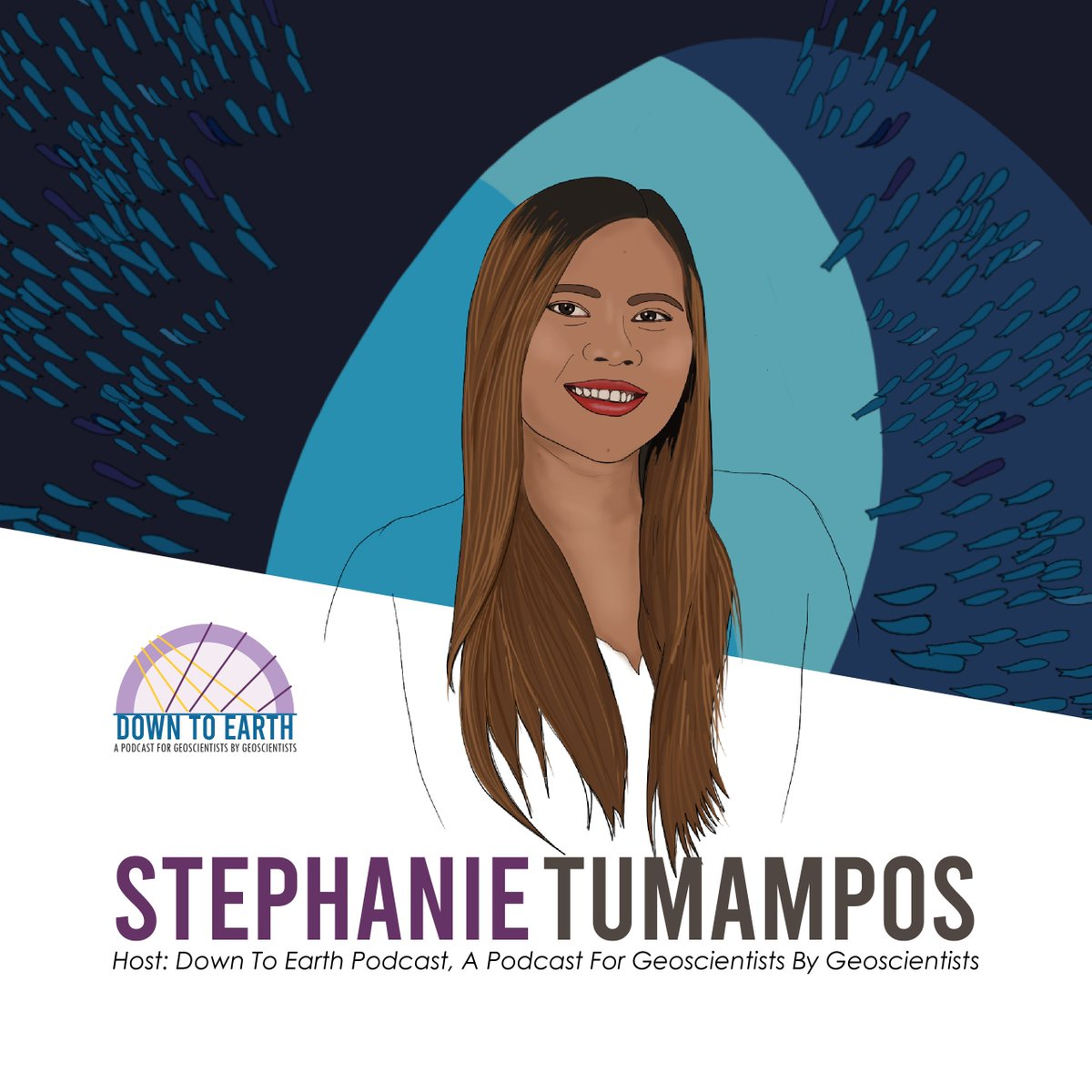 Our #podcast host for #DownToEarth is @stephtumampos. She is a #witty #passionate & #charming conversationalist with an excellent knowledge of #geoscience. She is a joint masters #graduatestudent at the @PLUS_RESEARCH and @UBS_universite and the student representative of @MSc_CDE