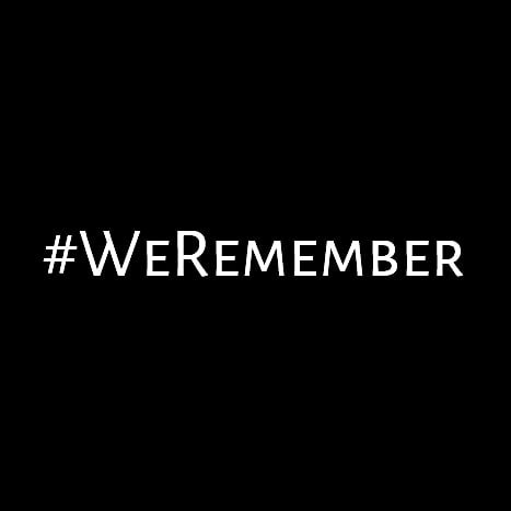 International Holocaust Remembrance Day . . . #weremember #neveragain #neverforget  (IG)