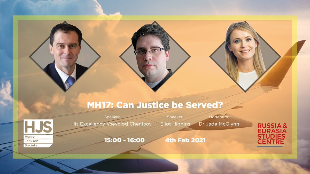 6.5 years since flight MH17 came down over Ukraine, will justice ever be served? ✈️ Join us next week when well be in discussion with H.E. @VVChentsov, @EliotHiggins & Dr @jademcglynn122 15:00 GMT - 4th Feb RSVP: zoom.us/webinar/regist…