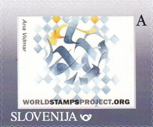 """New WorldStampsProject personal stamp was issued 😃👍 The stamp is depicting watercolor painting by Ana Vidmar, titled """"Imprint of Memory"""". Visit artist's Instagram page here:  #philately #stamps #art #watercolor #watercolorpainting"""