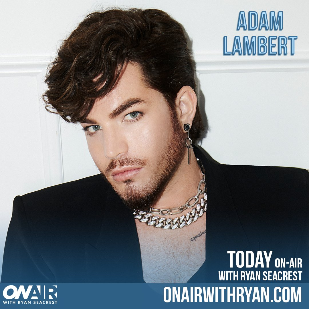 We have @adamlambert on with us just after 9:20a PT! #AdamLambertOnSeacrest