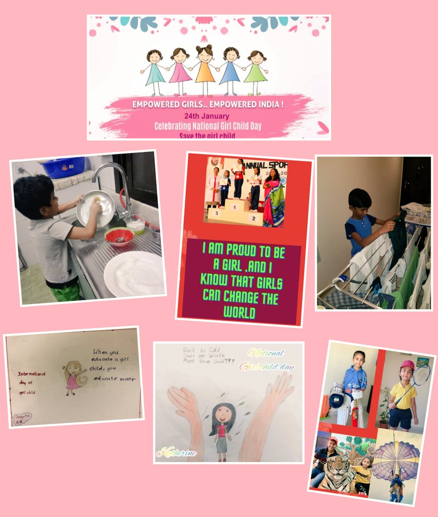 #NationalGirlChildDay2021  Boys from grade 2 are on action.All works are same for girl and boy. Welldone Vignesh & Karthikey. Pride art and memories from girls of grade 2.@gemsoois @menon_reshmi @menon_reshmi @grace_suja
