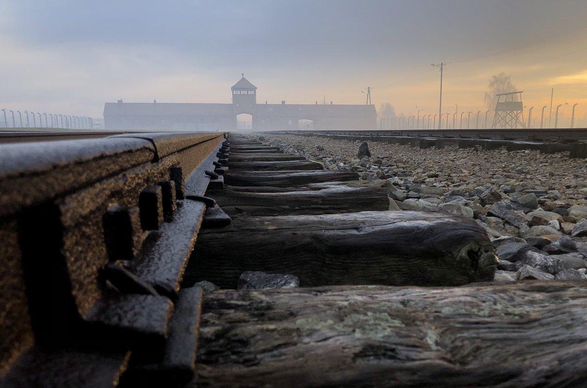 🕯Le 27 janvier 1945 était libéré le camp d'#Auschwitz. ➕ d'1,1 million d'enfants, de femmes & d'hommes à 90% Juifs y périrent. En ce jour de #HolocaustRemembranceDay ayons une pensée pour les millions de victimes de la barbarie nazie.  #HolocaustMemorialDay  © @AuschwitzMuseum