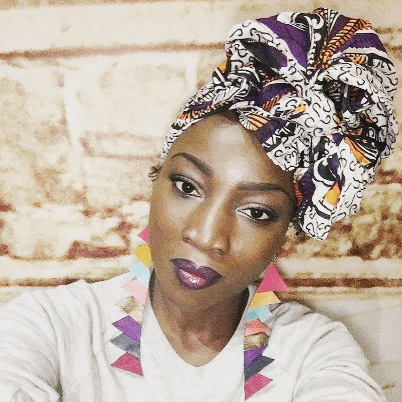 What the #headwrap? - culture (honoring my ancestors) - function (#lupus flares don't play fair w my hair or scalp) -fashionable (making #lemonade from lemons, #vogue ) #spoonie #chronicillness #hairloss #style #BlackHistory #blackwomen #empowerment