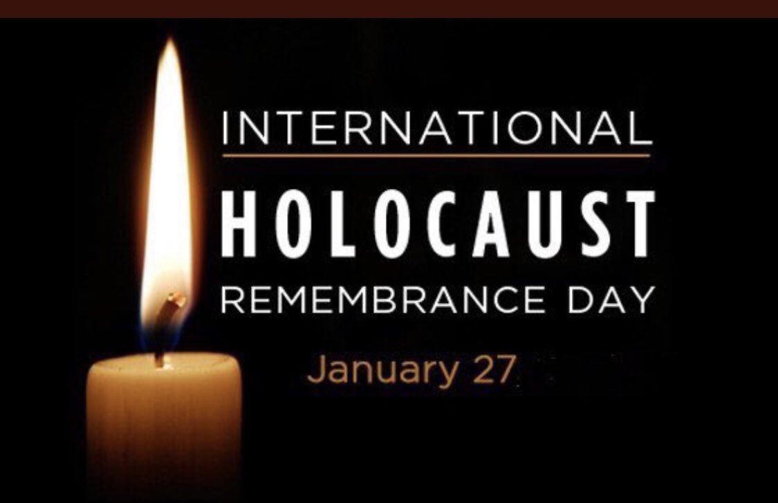 Remembering and honouring the more than six million Jewish victims of the holocaust and the survivors.  #WeRemember  and together we must vow #NeverAgain.