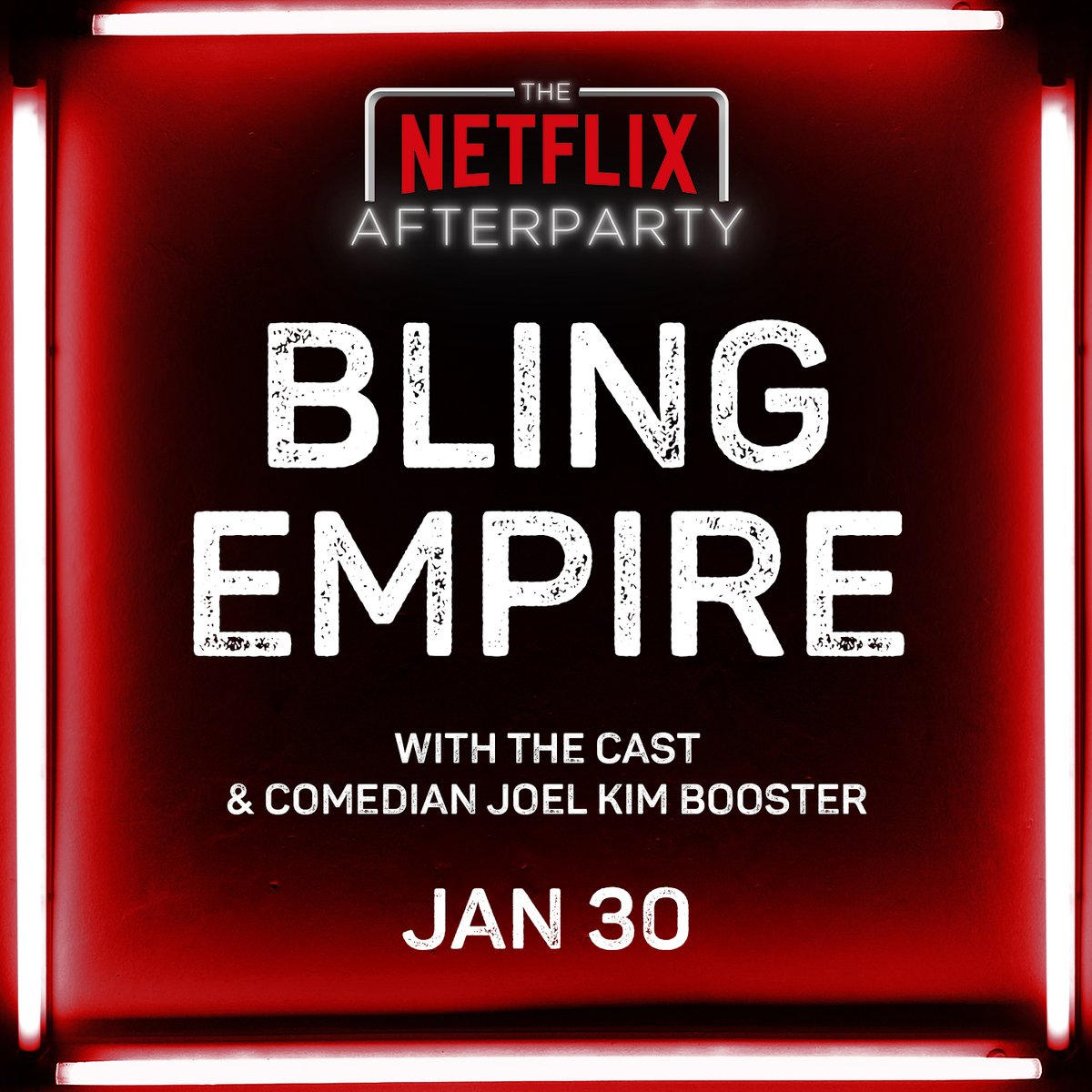 The Netflix Afterparty is BACK, this time with the cast of Bling Empire and comedian @ihatejoelkim. Coming January 30th!