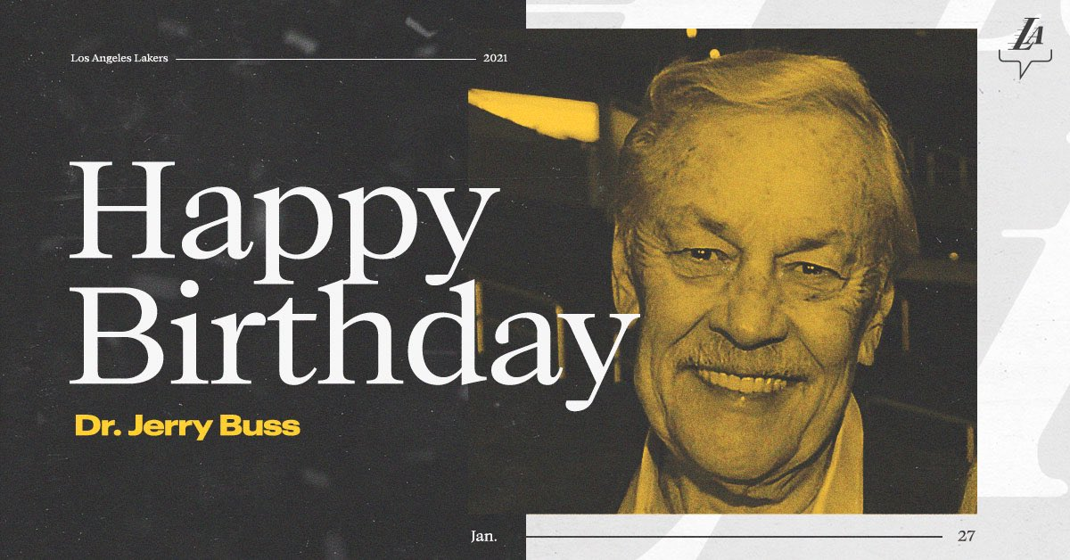A visionary that always made the impossible, possible: Happy birthday to the great Dr. Jerry Buss ⭐️