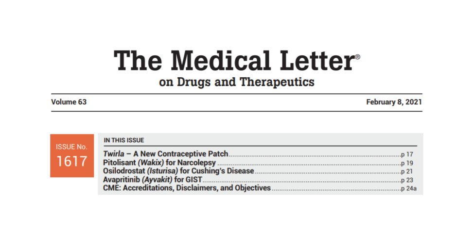 Read our latest issue:   #ContraceptivePatch #Narcolepsy #CushingsDisease #GIST