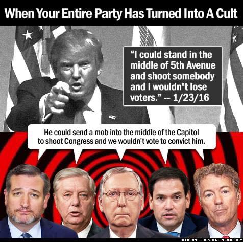 The #Republican party, the biggest pussy #Trump ever grabbed, and they like it. @LindseyGrahamSC @tedcruz @RandPaul @marcorubio @LeaderMcConnell @GOPLeader @SenateGOP @HouseGOP #TrumpInsurrection #TrumpTerrorism #TrumpTerrorists #DomesticTerrorism #DomesticTerrorist #Trump