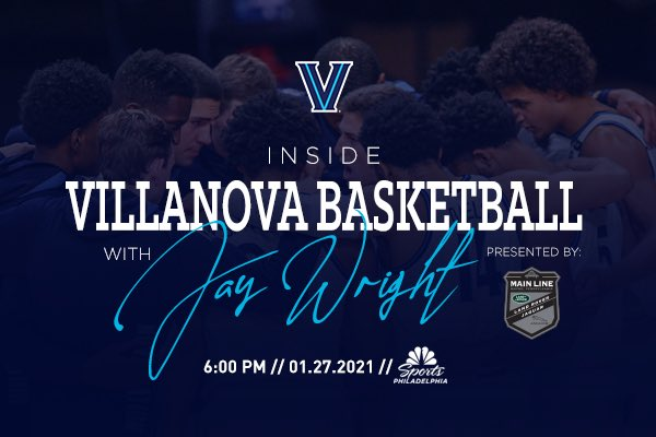 Inside Villanova Basketball with @VUCoachJWright pres. by @JAGLRMainline premieres tonight at 6pm on @NBCSPhilly!   🔗:   #NovaNation #GoNova