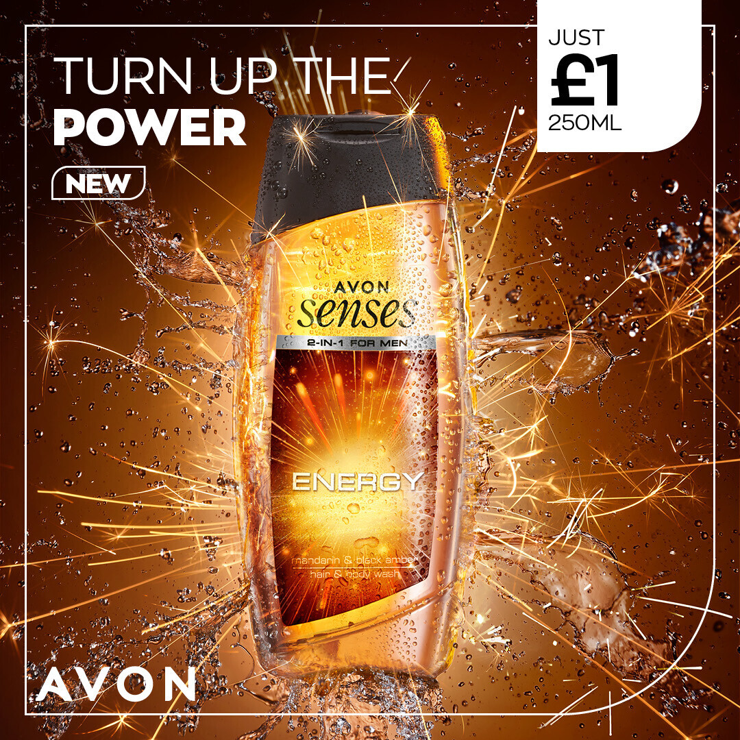 Turn the power up with a high-voltage spike of mandarin and amber-stone 💛  It's brand new 2-in-1 hair & body wash, and costs only £1 for 250ml or £1.50 for 500ml.   #ShowerGel #EveryDayEssentials #LoveThis