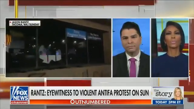 I witnessed the mob of Antifa rioters that destroyed property, burning an American flag, taunting cops, and starting fires in Tacoma on Sunday. I shared my experiences and discussed my @FOXNews.com editorial with @HARRISFAULKNER on the @FaulknerFocus.