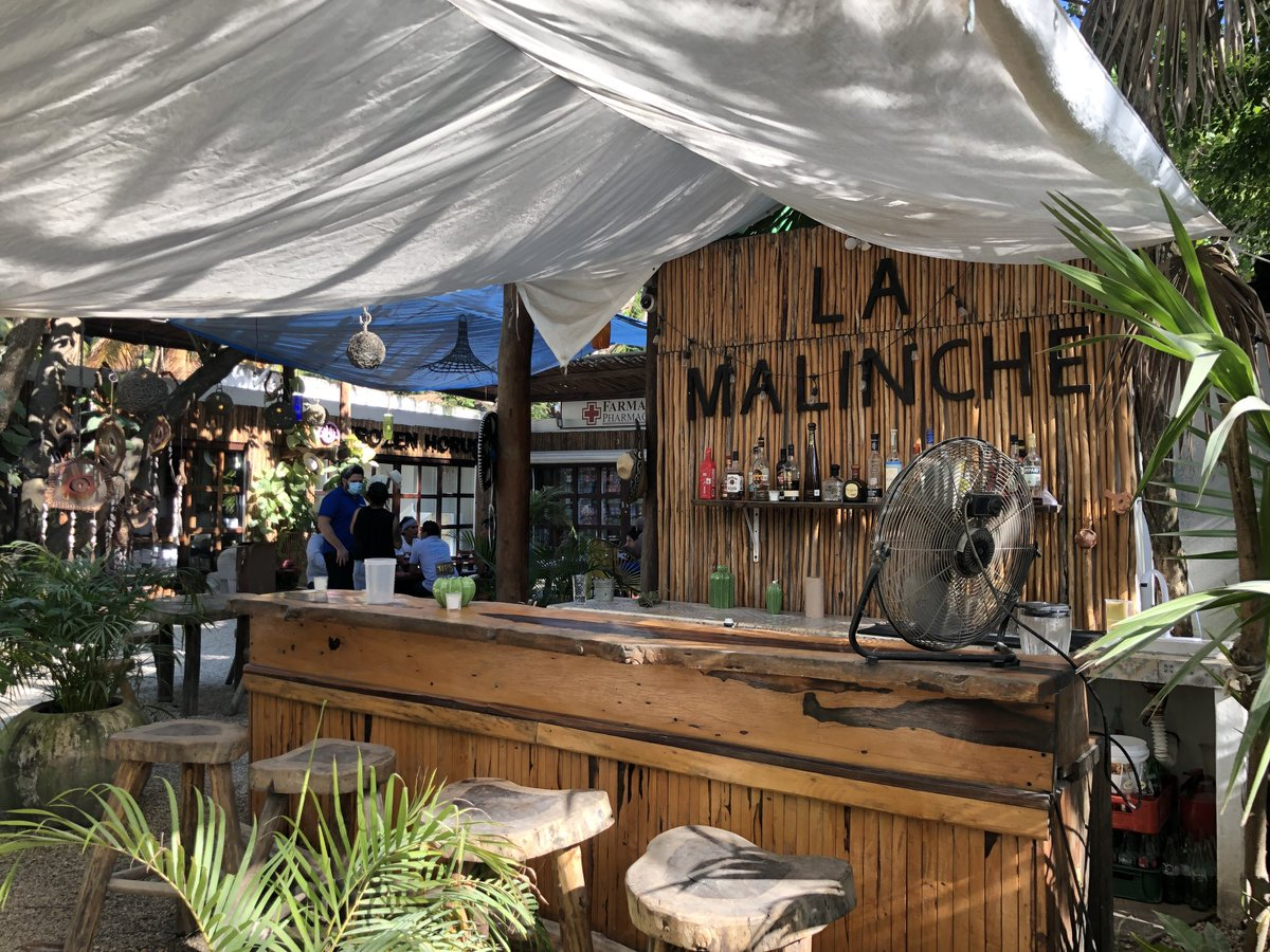 ビーチエリアで 典型的なバー&レストラン  オープンスペースなので 感染の確率は 低いかも?  #tulum #beach #bar