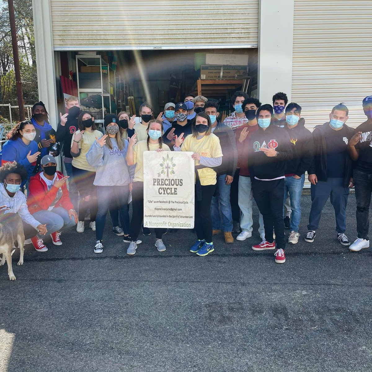 Members of the Alpha Omega chapter spent #MLKDay last week doing community service work with Precious Cycle. They did a fantastic job finding a way to remember the life of Martin Luther King Jr. and honor his mission!
