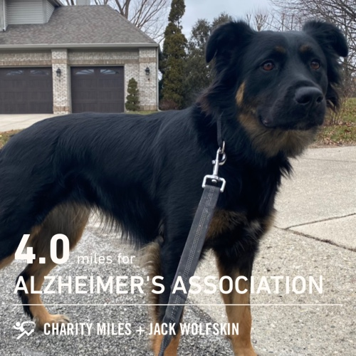 4.0 @CharityMiles for @alzassociation. #charitymiles #everymilematters