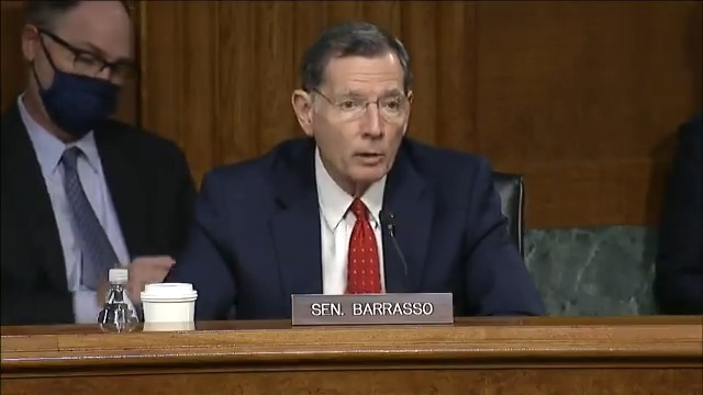 ".@SenJohnBarrasso to @JenGranholm on banning oil, gas, and coal leasing & permitting on federal lands: ""A long-term ban on oil and gas leasing would cost 62,000 jobs in New Mexico, 33,000 jobs in Wyoming, and 18,000 jobs in Colorado."""