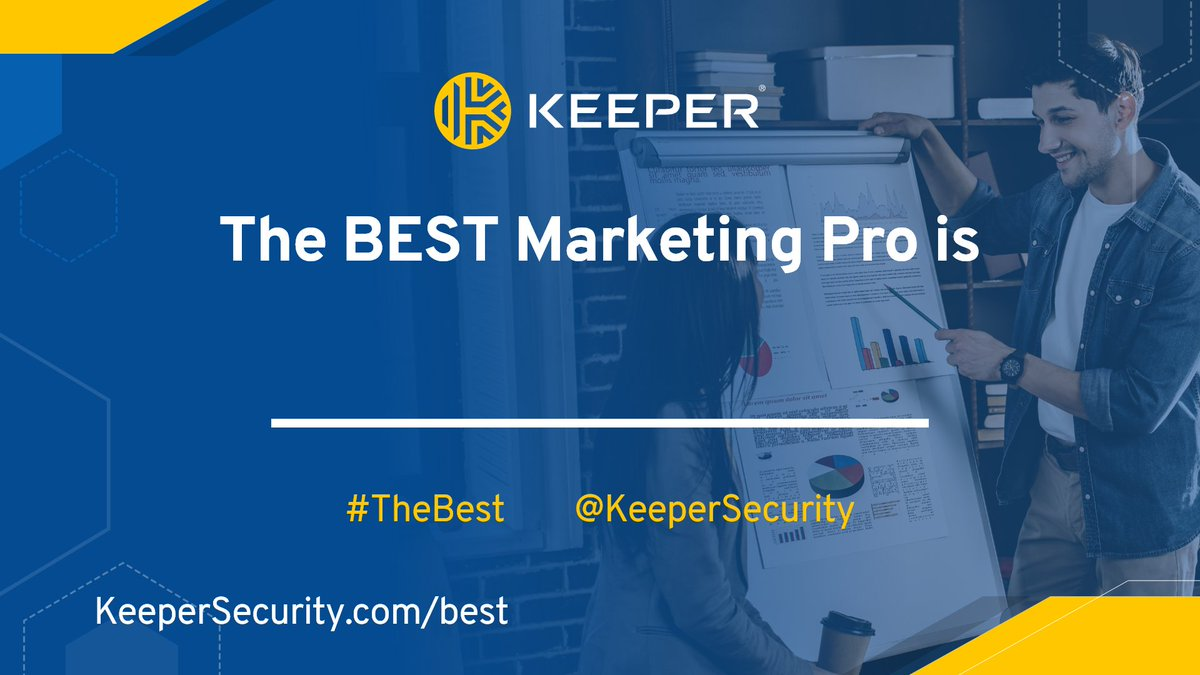 Who is The Best in Marketing - Marketer OR Marketing Agency?  Help us recognize the best of the best:  • Quote this tweet and tag them • Tag @KeeperSecurity & use #TheBest • Follow us to see results