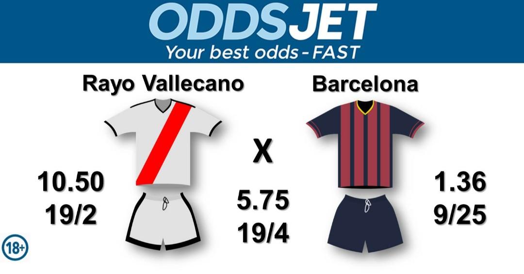 CopadelRey, #RayoBarça,  #LaLiga, #LaLigaSantander, #HayQueVivirla,  #Vallecano, #VamosRayo, #RayoVallecano, vs. #ForcaBarca, #VamosBarca, #Barca, #FCBarcelona, #WeAreMessi, Get your best odds - fast at