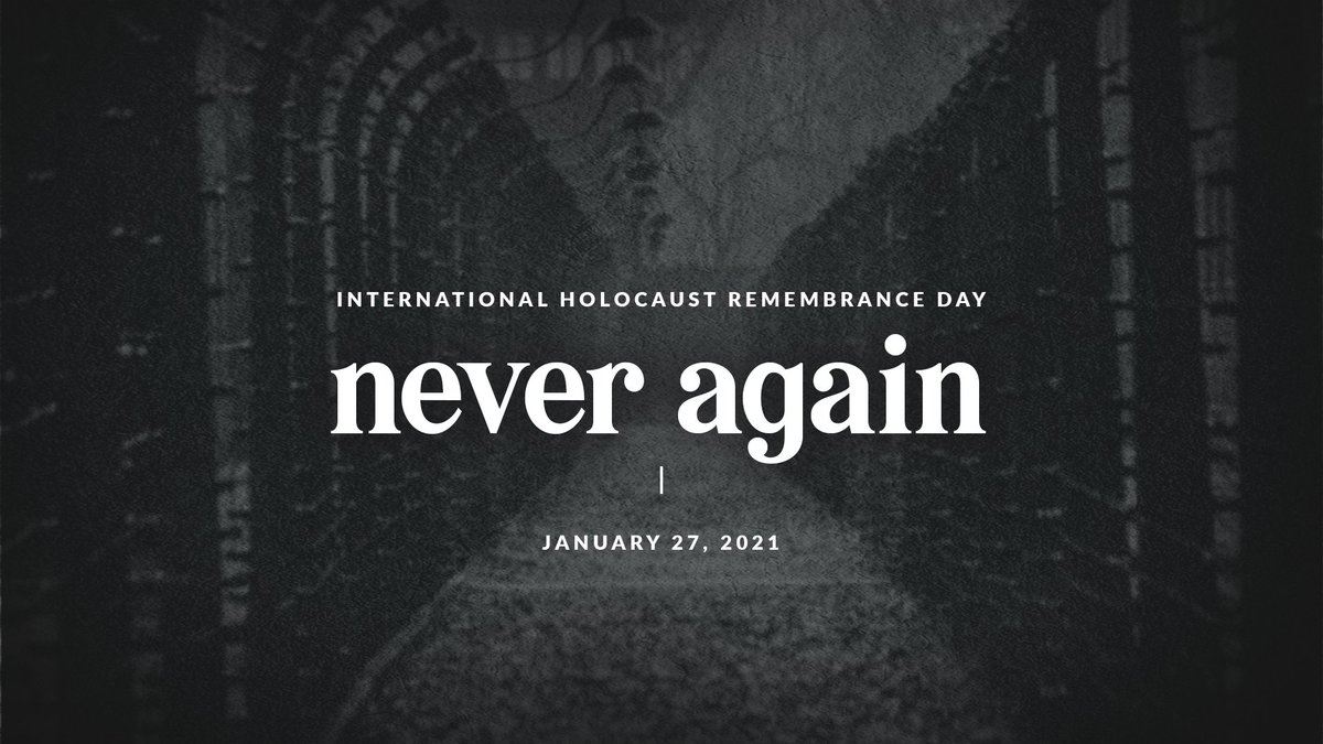 Today, on International Holocaust Remembrance Day, #WeRemember the millions of people who were murdered during the Holocaust. Anti-Semitism has no place in this world and we will continue to stand together against it. #NeverAgain