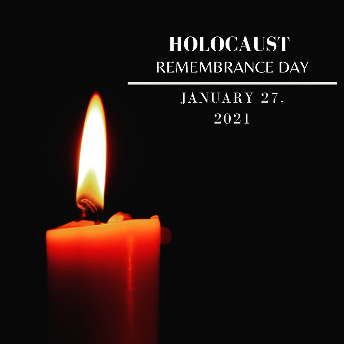 Today, on the anniversary of the liberation of Auschwitz-Birkenau, we honor & remember the 6 million Jewish victims lost in the Holocaust.   #HolocaustRemembranceDay