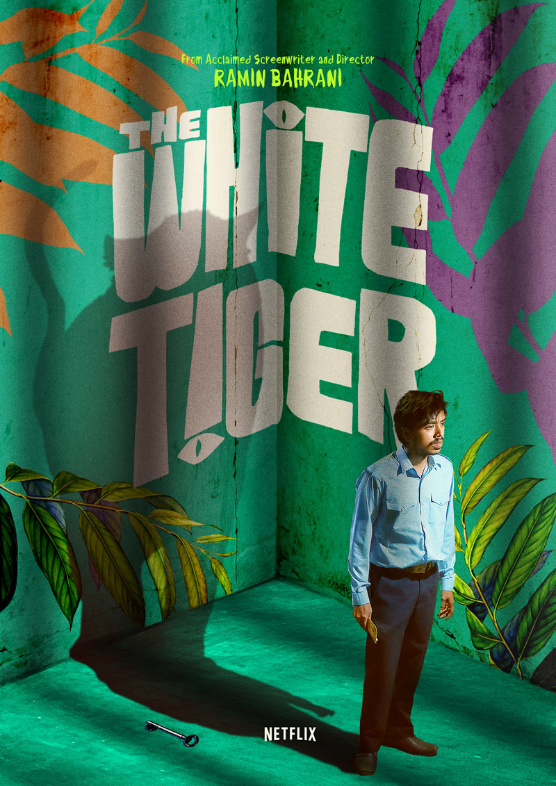 Here's my alternative tribute poster for #TheWhiteTigerNetflix  🇮🇳   If you haven't seen it yet, you're missing out! @_GouravAdarsh is teriffic!   #GreenArt #FilmTwitter #Poster #FilmPoster #Netflix