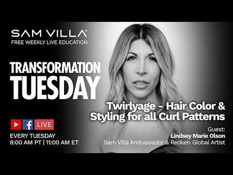 Twirlyage - #Hair #Color & #Styling for all #Curl Patterns - Never feel a moment of hesitation again when a guest with #textured #tresses reveals they want a blonding service. #SamVilla #SamVillaHair  WATCH HERE: