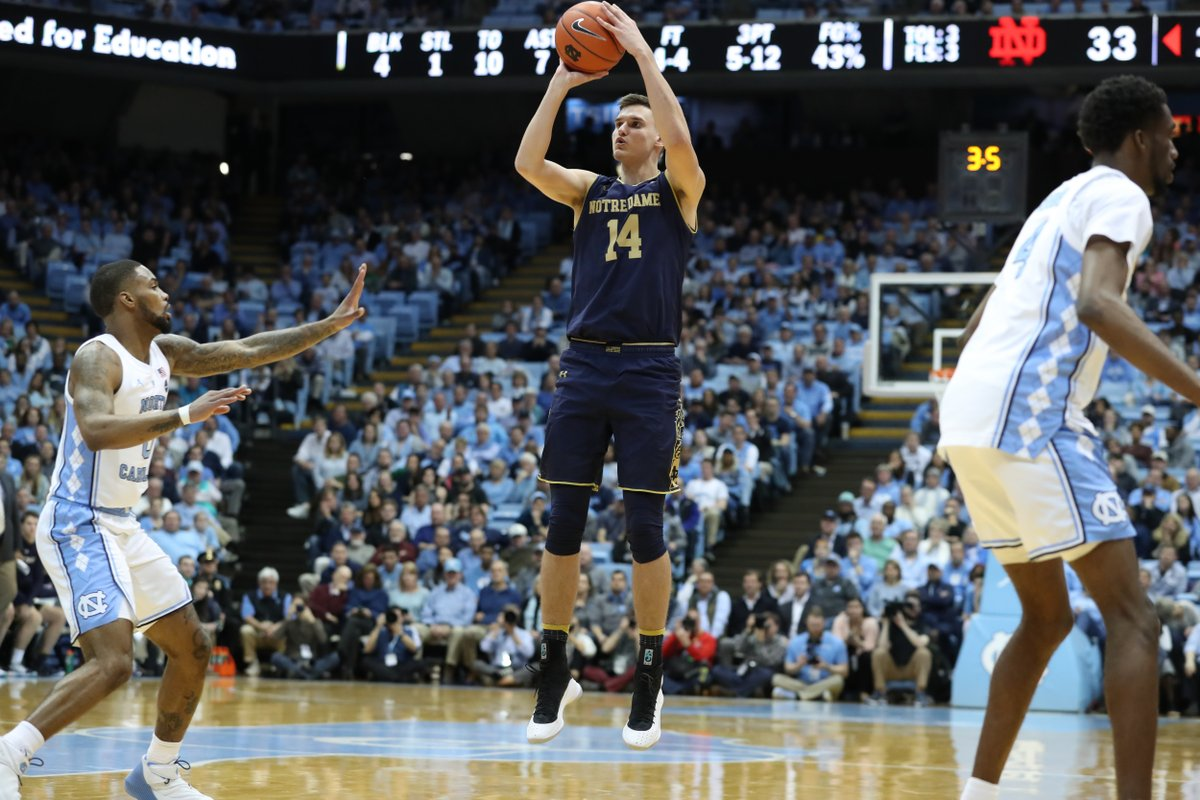 NBA Draft Board Monitor: Junior Nate Laszewski (Notre Dame) #PhenomHoops #NBADraft   - Laszewksi, a 6'10 junior, has elevated his game and with his size & outside shooting (55 percent from three), he could be one that brings intrigue.  Read: https://t.co/njEsrkxUAC https://t.co/pc3eNxFtmr