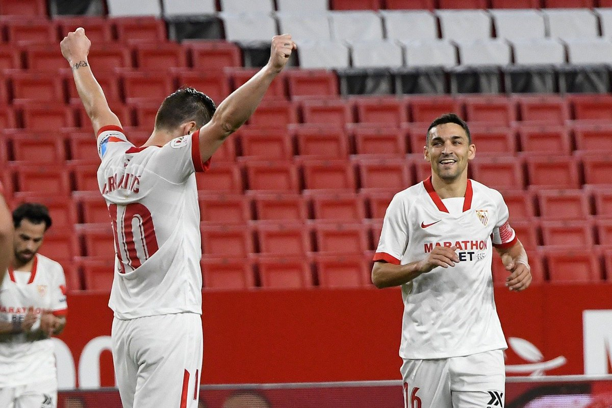 📸 𝗗𝗘𝗦𝗗𝗘 𝗣𝗜𝗡𝗢 𝗠𝗢𝗡𝗧𝗔𝗡𝗢 𝗖𝗢𝗡 𝗔𝗠𝗢𝗥 🇭🇷 ❤️  #SevillaFC 🆚 @valenciacf 3-0 (44´)  #CopaDelRey #WeareSevilla #NuncaTeRindas