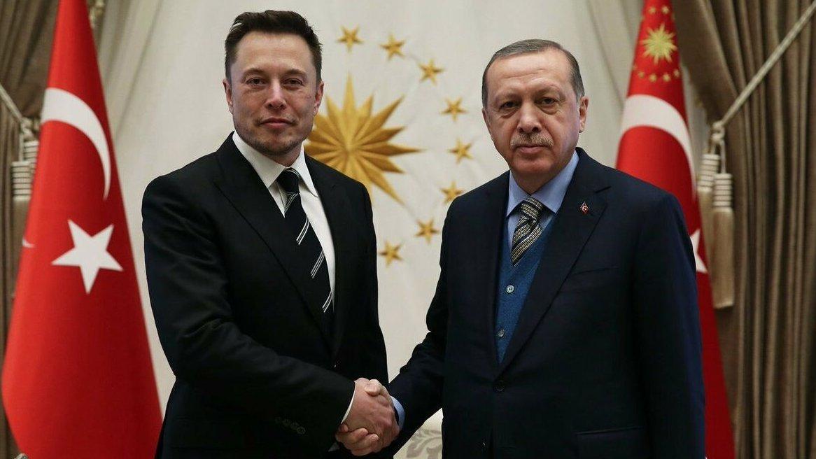 Erdoğan, Tesla ve SpaceX'in kurucusu Elon Musk ile görüştü