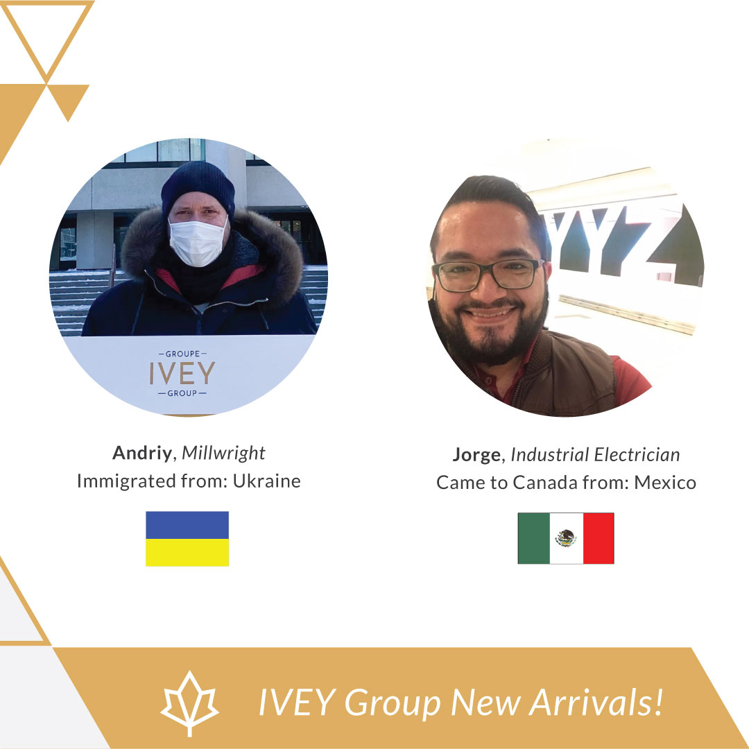 Meet our recent arrivals to #Canada! 🇨🇦   Andriy immigrated from #Ukraine to Canada to continue his career as a #Millwright & Jorge immigrated from #Mexico and is currently working as an #IndustrialElectrician. 💫   For more info, please visit our website: