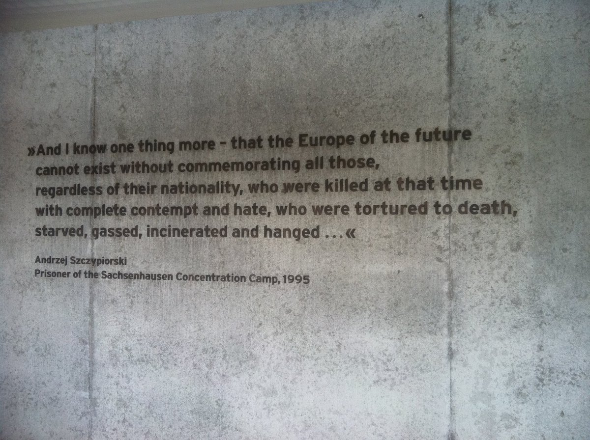 I read this a couple times and took this photo to remember. This is engraved at the Sachsenhausen concentration camp in Oranienburg. #WeRemember #HolocaustRemembranceDay