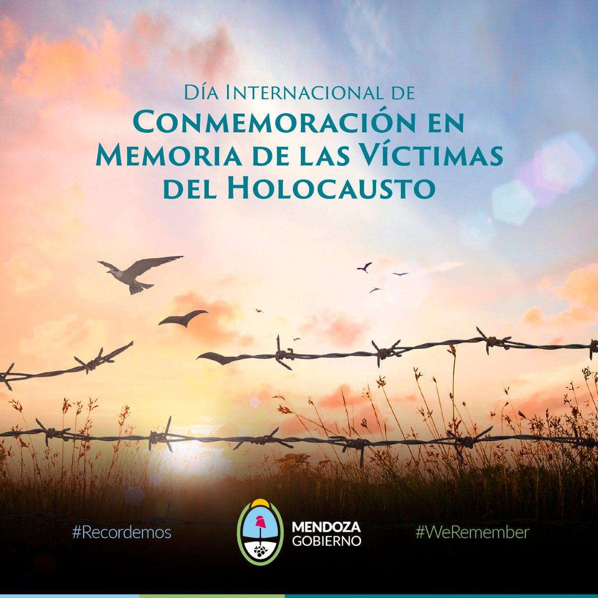En el Día Internacional de las Víctimas del Holocausto, recordamos para que la humanidad Nunca Más lo permita.   #WeRemember #Recordemos