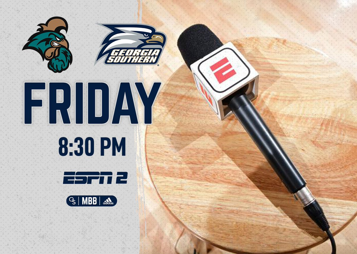 News | ESPN2 to Air Friday Night's Home Game Against Coastal Carolina  📰 - https://t.co/OfyerwglaO  #HailSouthern | #GATA | #SunBeltMBB https://t.co/9RMPGkoS3k