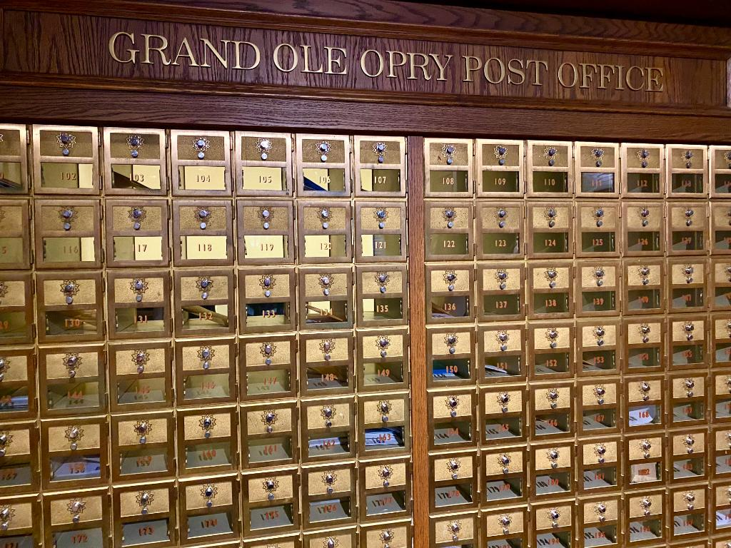 Did you know that each Opry member has their own mailbox in the Grand Ole Opry Post Office?  Guess which mailbox number your favorite Opry member has below ✉️