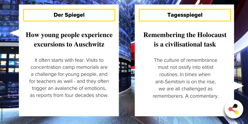 What #Germany is talking about: these topics are discussed in German-language media today.  #PressReview #NewsDE  #HolocaustRemembranceDay #WeRemember  Click on the link below to read the full article:  @derspiegel:   @Tagesspiegel: